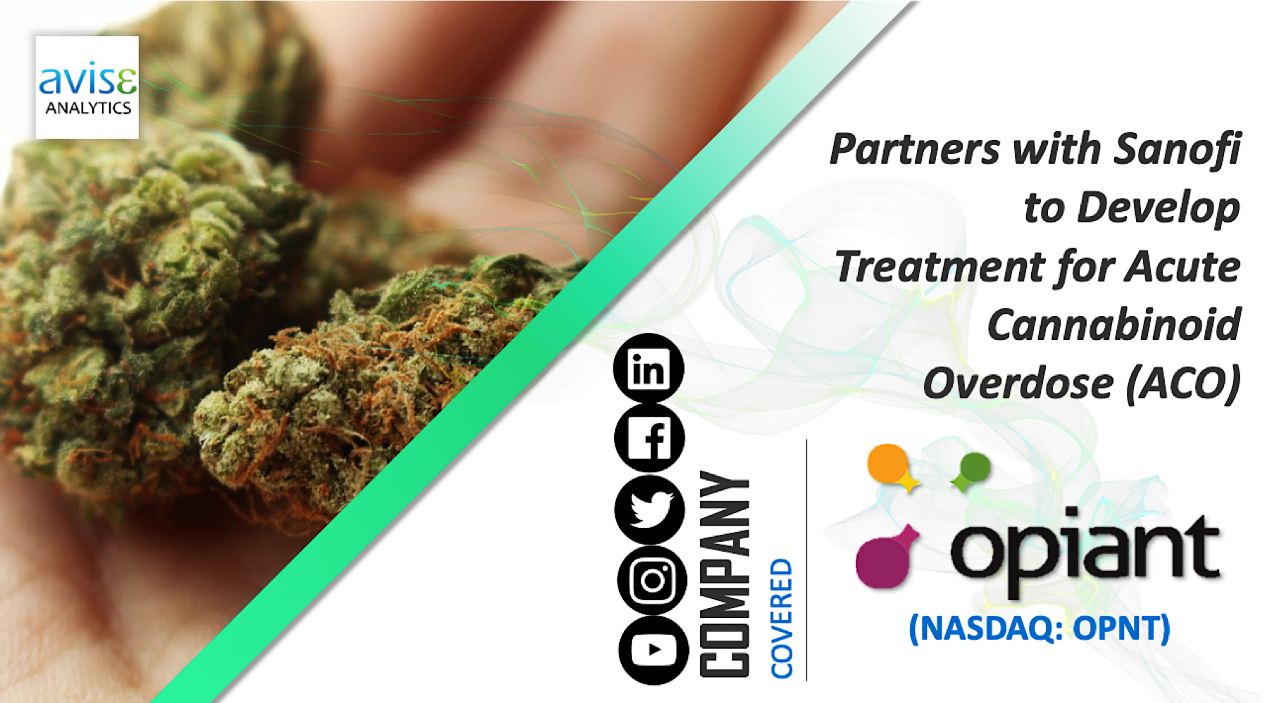 Opiant Pharmaceuticals – Partners with Sanofi to develop