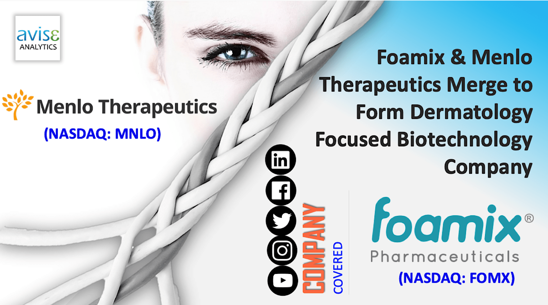 Foamix And Menlo Therapeutics Merge To Form Dermatology Focused